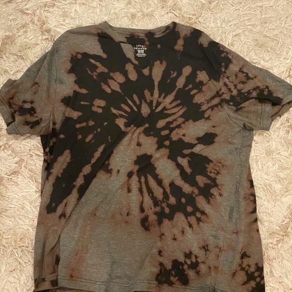 custom made Tops - custom oversized black bleached t shirt